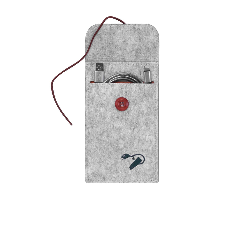 Felt case smartphone - travel grey 4
