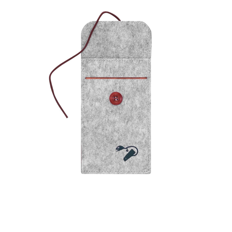 Felt case smartphone - travel grey 3